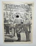 GERMAN WWII WEEKLY PHOTO MAGAZIN HITLER AND MUSSOL